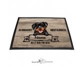 Fußmatten & LäuferFußmatten Hunderasse farbigRottweiler 2 - Farbige Fußmatte - Schmutzfangmatte - 40 x 60 cm