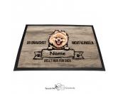 Fußmatten & LäuferFußmatten Hunderasse farbigPomeraner 2 - Farbige Fußmatte - Schmutzfangmatte - 40 x 60 cm
