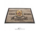 Fußmatten & LäuferFußmatten Hunderasse farbigPomeraner - Farbige Fußmatte - Schmutzfangmatte - 40 x 60 cm