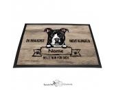 Fußmatten & LäuferFußmatten Hunderasse farbigPitbull 8 - Farbige Fußmatte - Schmutzfangmatte - 40 x 60 cm