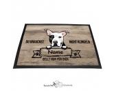Fußmatten & LäuferFußmatten Hunderasse farbigPitbull 5 - Farbige Fußmatte - Schmutzfangmatte - 40 x 60 cm