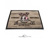 Fußmatten & LäuferFußmatten Hunderasse farbigPitbull 4 - Farbige Fußmatte - Schmutzfangmatte - 40 x 60 cm