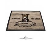 Fußmatten & LäuferFußmatten Hunderasse farbigPitbull 3 - Farbige Fußmatte - Schmutzfangmatte - 40 x 60 cm