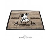 Fußmatten & LäuferFußmatten Hunderasse farbigPitbull - Farbige Fußmatte - Schmutzfangmatte - 40 x 60 cm