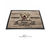 Fußmatten & LäuferFußmatten Hunderasse farbigLabrador - Farbige Fußmatte - Schmutzfangmatte - 40 x 60 cm
