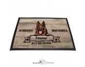 Fußmatten & LäuferFußmatten Hunderasse farbigSchäferhund 2 - Farbige Fußmatte - Schmutzfangmatte - 40 x 60 cm