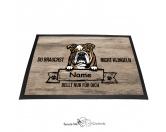 Fußmatten & LäuferFußmatten Hunderasse farbigEnglische Bulldogge 2 - Farbige Fußmatte - Schmutzfangmatte - 40 x 60 cm