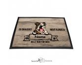 Fußmatten & LäuferFußmatten Hunderasse farbigEnglische Bulldogge - Farbige Fußmatte - Schmutzfangmatte - 40 x 60 cm