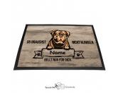 Fußmatten & LäuferFußmatten Hunderasse farbigBordeaux Dogge 2 - Farbige Fußmatte - Schmutzfangmatte - 40 x 60 cm