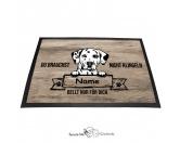 Fußmatten & LäuferFußmatten Hunderasse farbigDalmatiner 2 - Farbige Fußmatte - Schmutzfangmatte - 40 x 60 cm