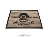 Fußmatten & LäuferFußmatten Hunderasse farbigDachshund 2 - Farbige Fußmatte - Schmutzfangmatte - 40 x 60 cm