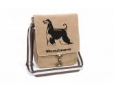 Schmuck & AccessoiresVergoldete AnhängerAfghane 1 Canvas Schultertasche Tasche mit Hundemotiv und Namen