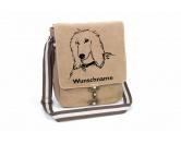 Schmuck & AccessoiresVersilberte AnhängerAfghane Canvas Schultertasche Tasche mit Hundemotiv und Namen