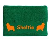 Für MenschenHunde Motiv Handtuch -watercolour-Handtuch: Sheltie - Shetland Sheepdog 1