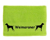 Schmuck & AccessoiresHunderassen-Broschen versilbert/vergoldetHandtuch: Weimaraner 1