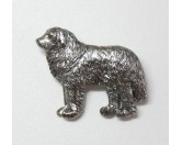 Schmuck & AccessoiresHunderassen-Broschen versilbert/vergoldetZinn-Brosche: Pyrenäen Berghund Versilbert