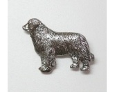 Aufkleber & TafelnAufkleber - an BordZinn-Brosche: Neufundländer Versilbert