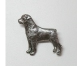 Taschen & RucksäckeCanvas Tasche HunderasseZinn-Brosche: Rottweiler Versilbert