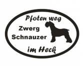 Schmuck & AccessoiresVergoldete AnhängerPfoten Weg - Aufkleber: Zwergschnauzer 3