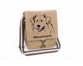 Taschen & RucksäckeCanvas Tasche HunderasseAustralian Shepherd Canvas Schultertasche Tasche mit Hundemotiv und Namen