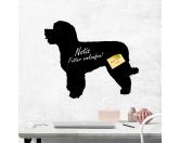 Selbstklebende KreidetafelnHundeSelbstklebende Kreidetafel: Portugiesischer Wasserhund 4
