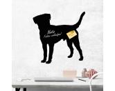 Fußmatten & LäuferFußmatten Hunderasse farbigJack Russell Terrier 1 - Kreidefolie zum Beschriften, selbstklebend