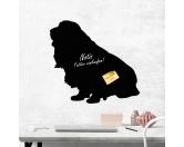 Für MenschenWeihnachtsmarktKreidetafel Hunderasse: Dackel Langhaar 1