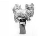 Selbstklebende KreidetafelnHundeHunderassen-Ringclip Versilbert: Chihuahua Langhaar