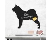 Bekleidung & AccessoiresHundesportwesten mit Hundemotiven inkl. Rückentasche MIL-TEC ®Kreidetafel Hunderasse: Akita 3