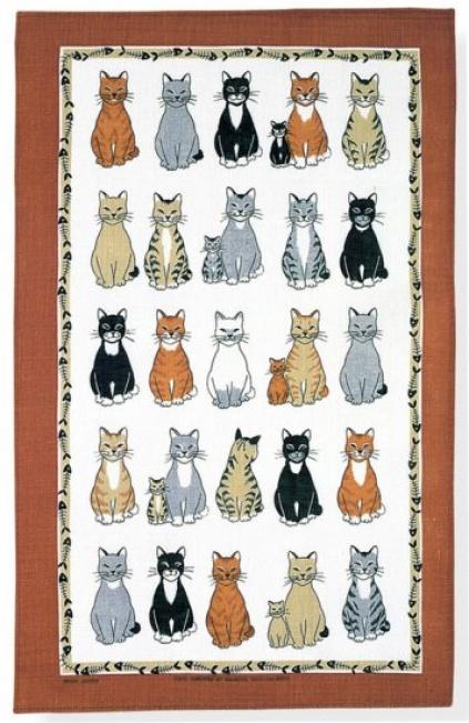 irisches leinen geschirrtuch katzen cats 2 tierisch. Black Bedroom Furniture Sets. Home Design Ideas