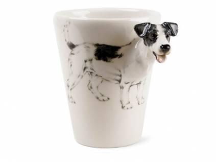 hunde 3d designer tasse jack russell terrier schwarz weiss tierisch tolle geschenke. Black Bedroom Furniture Sets. Home Design Ideas
