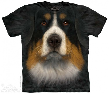 Restposten The Mountain Shirt Berner Sennenhund - Bernese Mountain Dog Face