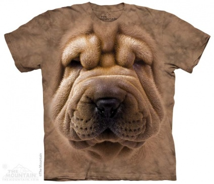 The Mountain-Shirts Hunde The Mountain Shirt - Shar Pei Face