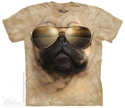 The Mountain-Shirts Hunde The Mountain Shirt Mops - Aviator Pug
