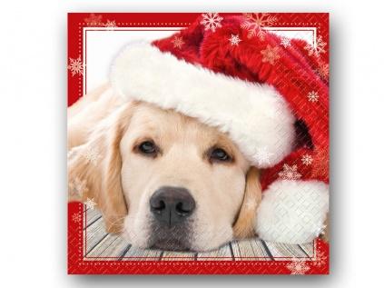 papier servietten hund weihnachten lupo 20 stck 33 x 33. Black Bedroom Furniture Sets. Home Design Ideas