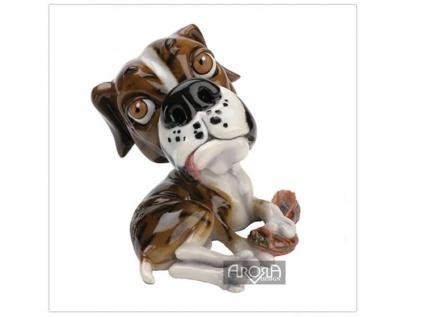 arora deko hunde figur alfie der boxer klein tierisch tolle geschenke. Black Bedroom Furniture Sets. Home Design Ideas