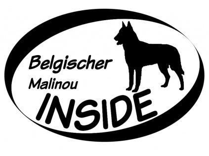 Inside Aufkleber Belgischer Schäferhund Malinois