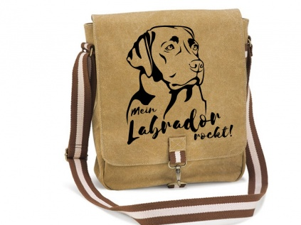 Canvas Tasche HunderasseCanvas Messenger: Labrador