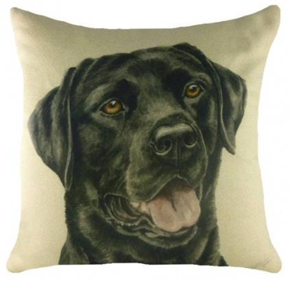 Hundemotiv kissenbezug labrador black tierisch tolle for Kissenbezug selbst gestalten