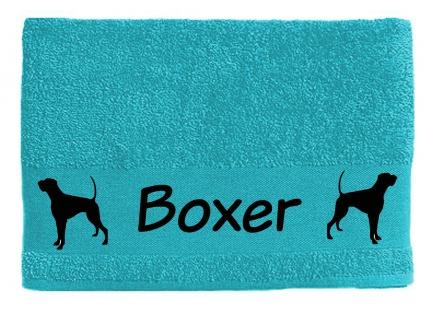 handtuch boxer 1 hundemotiv handt cher tierisch tolle geschenke. Black Bedroom Furniture Sets. Home Design Ideas