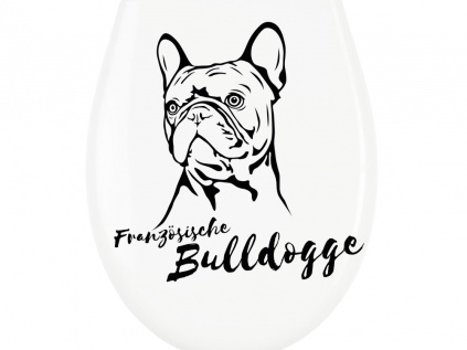 wc aufkleber franz sische bulldogge tierisch tolle. Black Bedroom Furniture Sets. Home Design Ideas