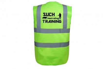 Motiv 2 S, Gr/ün Mantrailing Warnweste Hundesport Sicherheitsweste Suchteam im Einsatz