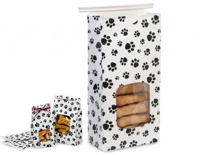 leckerlie beutel mit verschlu pfoten 500 ml tierisch tolle geschenke. Black Bedroom Furniture Sets. Home Design Ideas