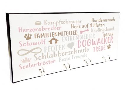 design schl sselbrett hunde herz beige rosa tierisch tolle geschenke. Black Bedroom Furniture Sets. Home Design Ideas
