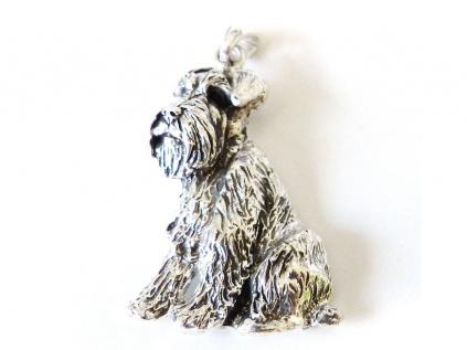 Hunderassen Schmuck AnhängerSchmuck - Anhänger: Schnauzer -925er Sterling Silber