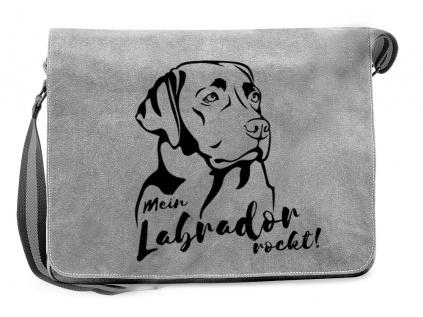 BaumwolltaschenCanvas Messenger Tasche: Labrador