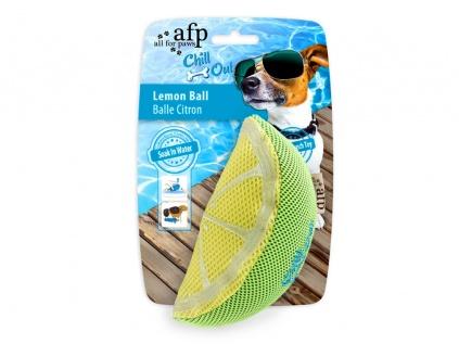 Kühlartikel für HundeChill Out - Lemon Slice Hundespielzeug mit Schwamm