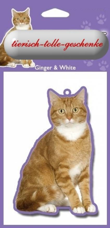 duftbaum wunderbaum ginger white katze tierisch tolle geschenke. Black Bedroom Furniture Sets. Home Design Ideas