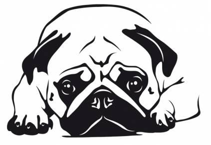 Hunde wandtattoo mops 6 tierisch tolle geschenke - Tolle wandtattoos ...