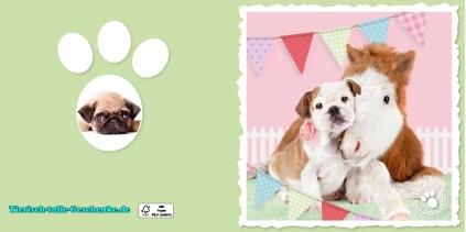 myrna gru karte englische bulldogge fohlen tierisch tolle geschenke. Black Bedroom Furniture Sets. Home Design Ideas